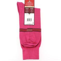 Mi chaussette, 100% fil d'écosse Fuchsia. Semelle double