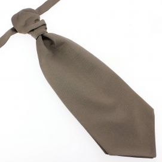 Lavallière nouée en soie, Taupe, Faite à la main Tony & Paul Cravates