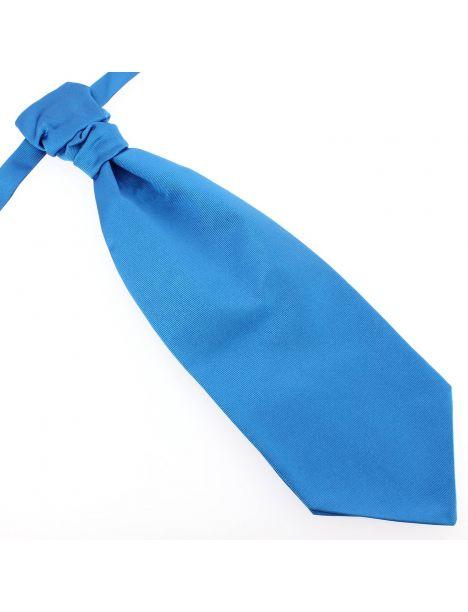 Lavallière nouée en soie, Bleu Cina, Faite à la main Tony & Paul Cravates