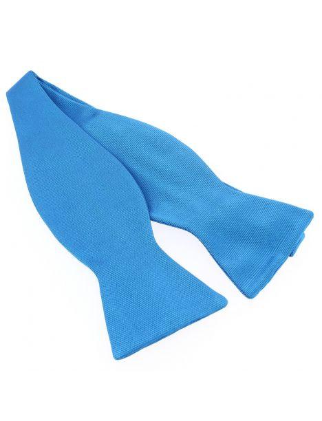 Nœud papillon à nouer en soie, Bleu Cina, Fait à la main Tony & Paul Noeud Papillon
