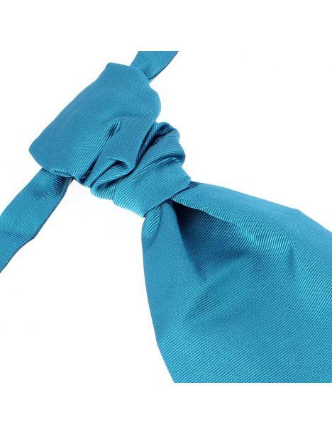 Lavallière nouée en soie, cobalto, Faite à la main
