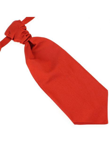 Lavallière nouée en soie, Rouge Geraneo, Faite à la main Tony & Paul Cravates