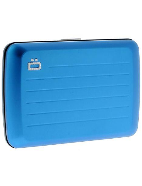 Porte carte Ogon V2 Blue métal - Fermoir métal Ogon Designs Petite Maroquinerie