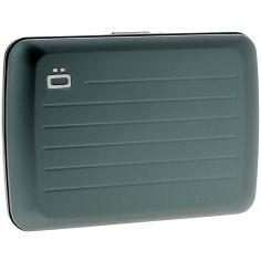 Porte carte Ogon V2 Paltinum, gris foncé - Fermoir métal Ogon Designs Petite Maroquinerie