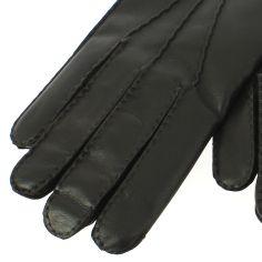 Gant cuir marron Luxe, agneau-cachemire, fait main en Italie