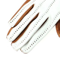 Gant cuir marron Luxe, agneau, fait main en Italie