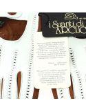Gant cuir marron Luxe, agneau, fait main en Italie Guanti di Arcucci Gants Homme