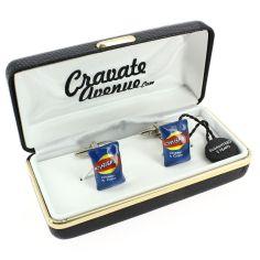 Bouton de Manchette, paquet de chips bleu
