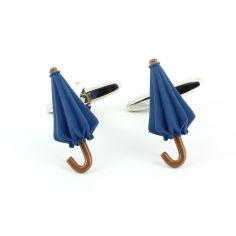 Boutons de manchette, Parapluie bleu