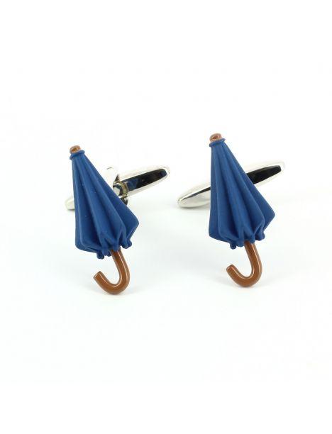 bouton de manchette parapluie bleu cravate avenue. Black Bedroom Furniture Sets. Home Design Ideas