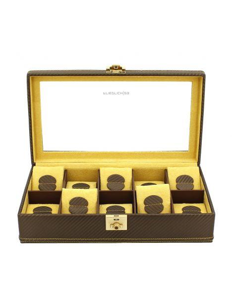 Ecrin 10 montres, Carbone, fibre de carbone intérieur jaune Friedrich 23 Ecrins