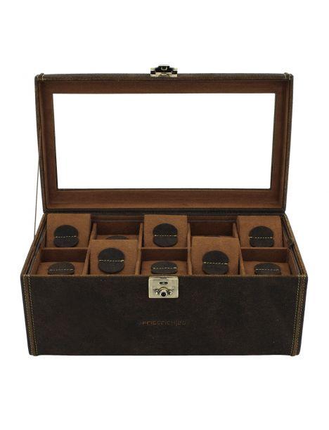 Ecrin 20 montres, Cubano V2, cuir marron havane Friedrich 23 Ecrins