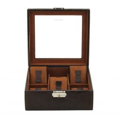 Ecrin 6 montres, Bond, marron, vitré Friedrich 23 Ecrins