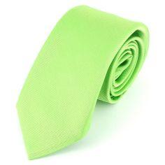 Cravate soie 6 plis, Vert Cedro, Faite à la main