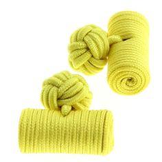 Passementerie cylindre jaune soleil