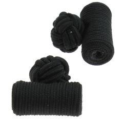 Passementerie cylindre noir charbon