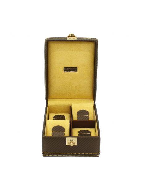 Ecrin 4 montres, Carbone, Couleur fibre de carbone intérieur jaune Friedrich 23 Ecrins