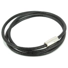 Bracelet Classico Homme Monart, noir