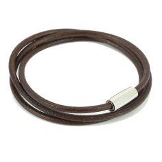 Bracelet Classico Homme Monart, marron foncé