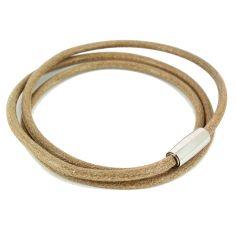 Bracelet Classico Homme Monart, marron clair