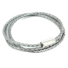 Bracelet tressé Homme Monart, gris