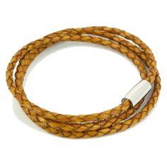 Bracelet tressé Homme Monart, jaune