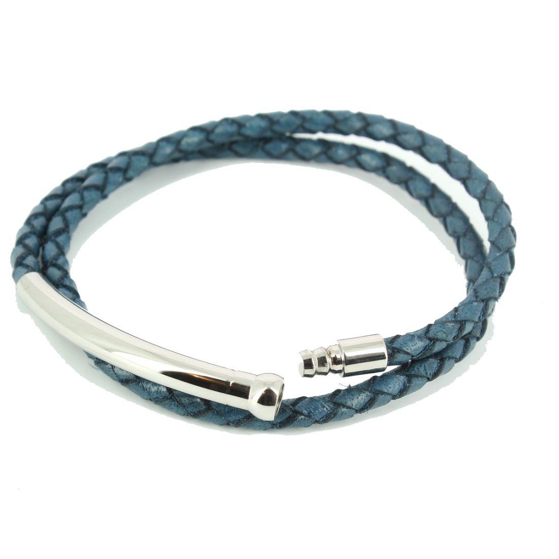 bracelet spring homme monart bleu cravate. Black Bedroom Furniture Sets. Home Design Ideas