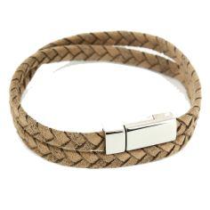 Bracelet dandy Homme Monart, Marron clair