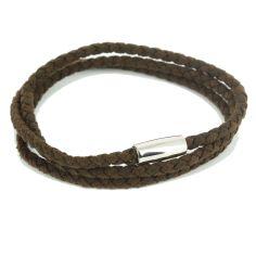 Bracelet trio Homme Monart, Marron foncé