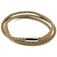 Bracelet trio Homme Monart, Marron clair