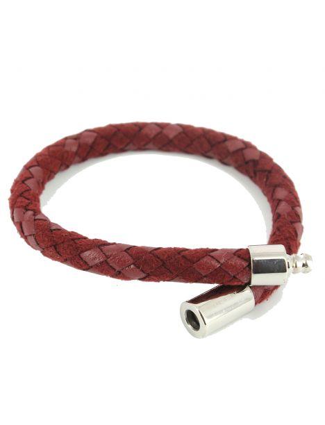 Bracelet preppy Homme Monart, rouge