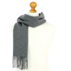 Echarpe luxe unie en laine d'Australie, 37x180cm