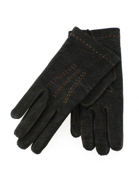 Gant cuir noir Luxe, agneau, fait main en Italie Guanti di Arcucci Gants Homme