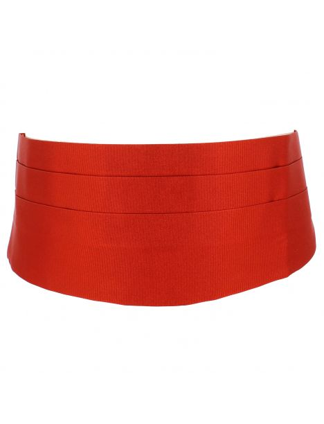 Ceinture Smoking en soie, Rouge Geraneo Tony & Paul Ceintures