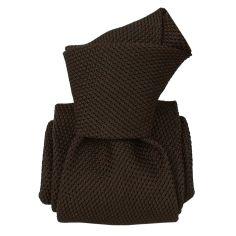 Cravate grenadine de soie, Segni & Disegni, Lucia Marron