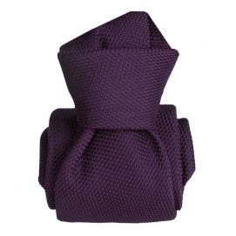 Cravate grenadine de soie, Segni & Disegni, Lucia violet