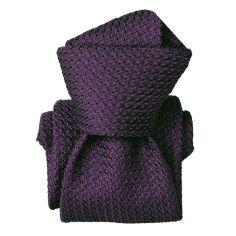 Cravate grenadine de soie, Segni & Disegni, Beverly Violet