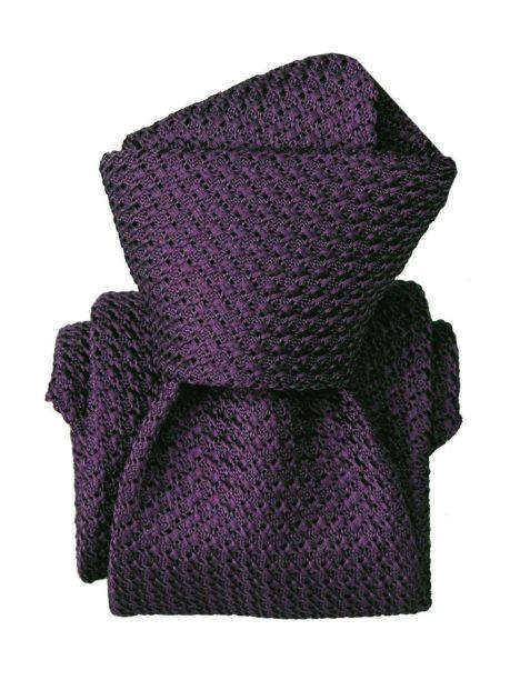 Cravate grenadine de soie, Segni & Disegni, Beverly Violet Segni et Disegni Cravates