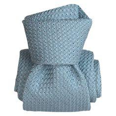 Cravate grenadine de soie, Segni & Disegni, Beverly Azur