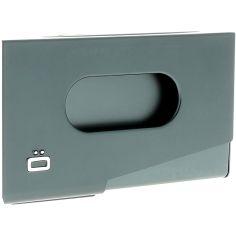 Porte-carte de visite alu Platinium, Ogon Design, One Touch