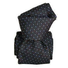 Cravate grenadine de soie, Segni & Disegni, Paris XVI Gris