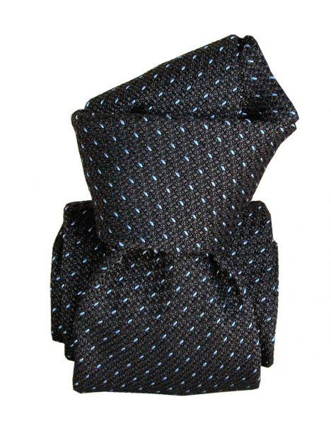 Cravate grenadine de soie, Segni & Disegni, Paris XVI Gris Segni et Disegni Cravates