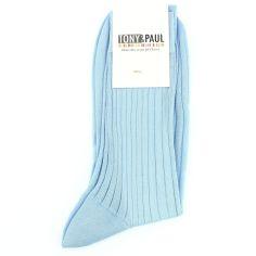 Chaussettes pur fil d'Ecosse. Bleu ciel. Tony & Paul