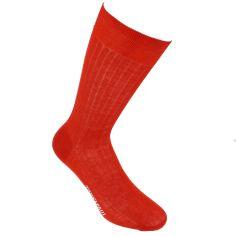 Chaussettes pur fil d'Ecosse. Rouge Cardinal. Tony & Paul Tony & Paul Chaussettes
