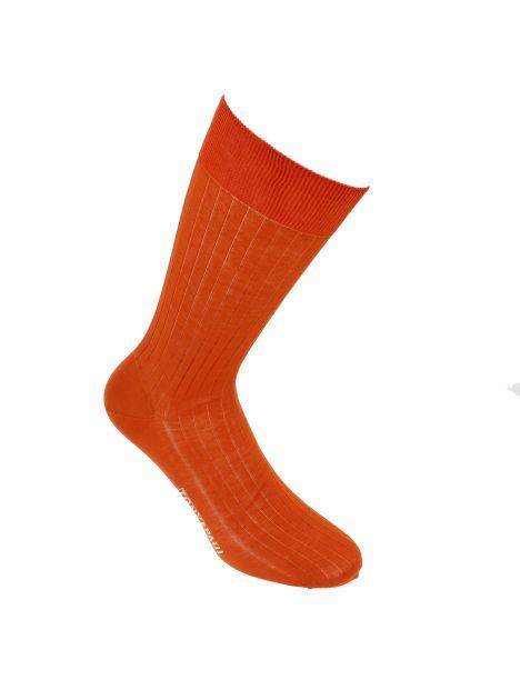 Chaussettes pur fil d'Ecosse. Orange de Séville. Tony & Paul Tony & Paul Chaussettes
