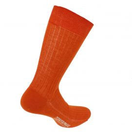 Chaussettes pur fil d'Ecosse. Orange de Séville. Tony & Paul