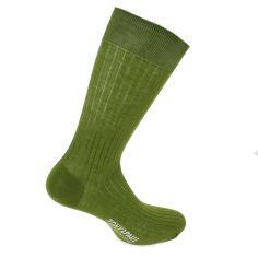 Chaussettes pur fil d'Ecosse. Vert Sequoia. Tony & Paul