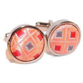 Boutons de manchette, disco orange