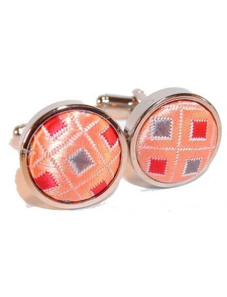 Boutons de manchette, disco orange Cravate Avenue Signature Bouton de manchette
