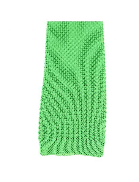 Cravate Tricot. Vert